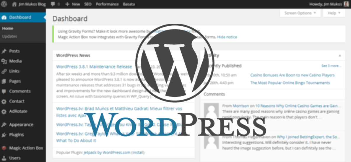 wordpress-back-end