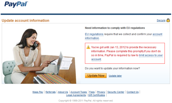 How EU Regulations Limit Access to your Paypal Account